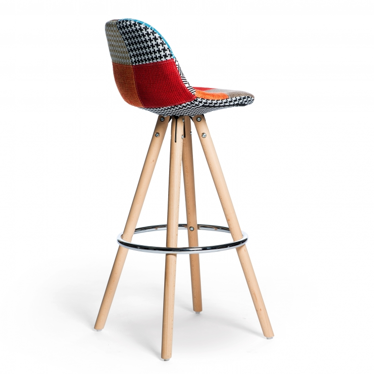 Tabouret Poland Patchwork Chaises Patchwork Furnmod
