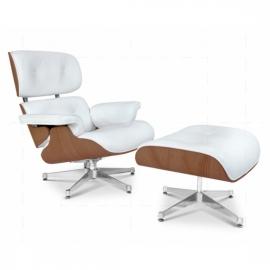 James Lounge Chair Simili Cuir Noyer