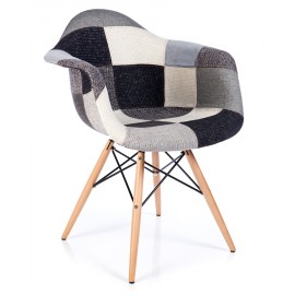 Chaise Patchwork Xl Gris