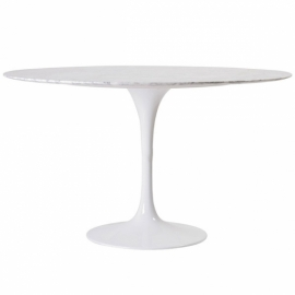 Table Dining Tulip 100cm en Marbre de Carrare