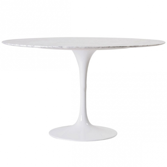 Table Dining Tulip Marbre 100 Cm
