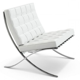 Fauteuil Barcelona chair Half leather