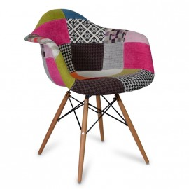 Chaise Patchwork XL pink