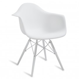"""Chaise James Wood """"High Quality"""" XL Snow"""