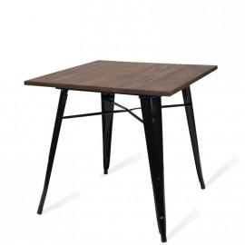 Table Lix Style Dark Legs Black
