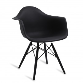 """Chaise James Wood XL """"High Quality"""" All Black"""
