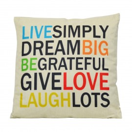 Coussin Live Simply