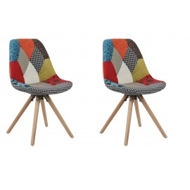 Pack 2 Silla Tower Tulip Patchwork