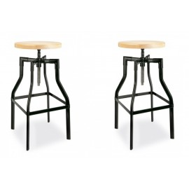 Pack 2 Taburetes Swivel Stool 65-83 cm