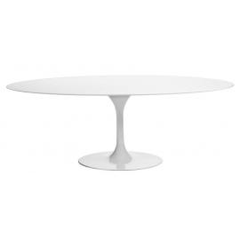 Table Oval Tulip 199cm en MDF Blanc