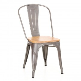 Chaise Bistro Wood metal