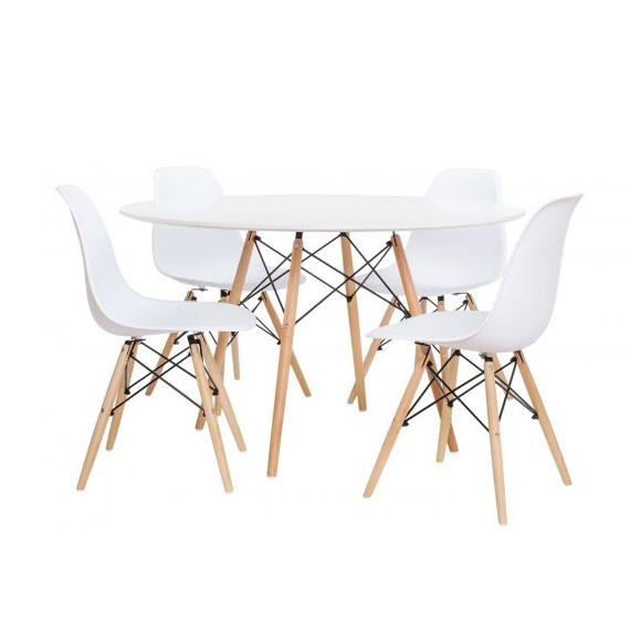 Lot de 4 Chaises James et 1 Table james 120 cm