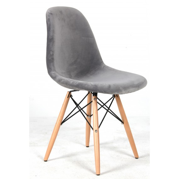 Silla James Velvet Grey
