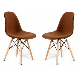 Lot de 2 Chaises Velvet Brown