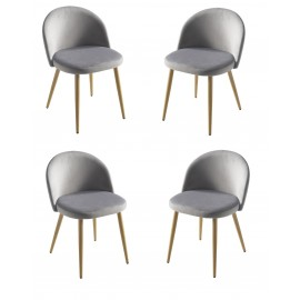 Lot de 4 Chaises Casino