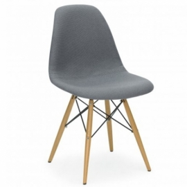 Chaise James Wood Cover Gris