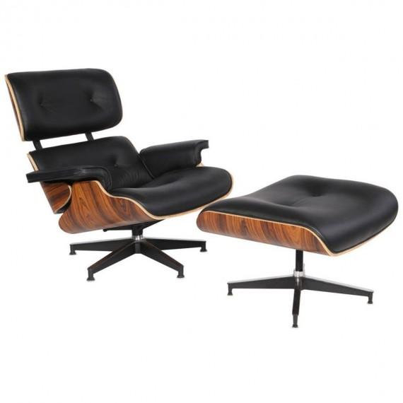furmod Eames Lounge Chair Inspirado Polipiel