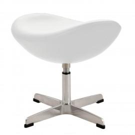 Réplique ottomane de la chaise Egg, en cuir par le designer Arne Jacobsen