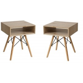 Lot de 2 Tables de Nuit Tower