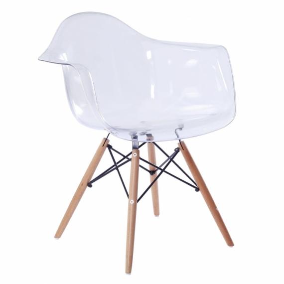furmod Silla Eames DAW Style Transparente