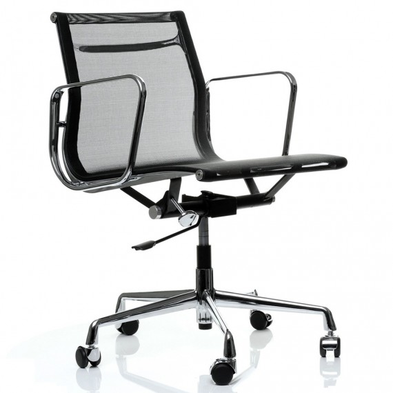 Chaise de bureau Replica Aluminium EA107 par Charles & Ray Eames.
