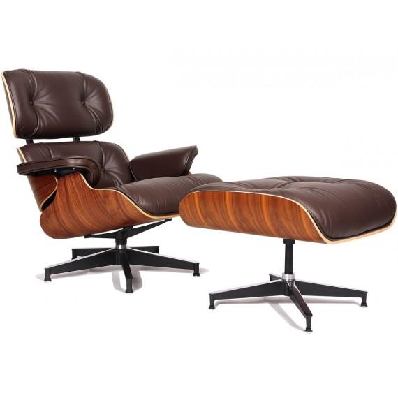 Réplique du fauteuil Eames Lounge chair original par Charles & Ray Eames
