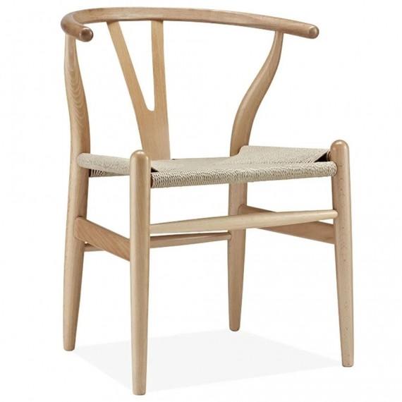 Réplique chaise Wishbone CH24 en bois de hêtre fait à la main