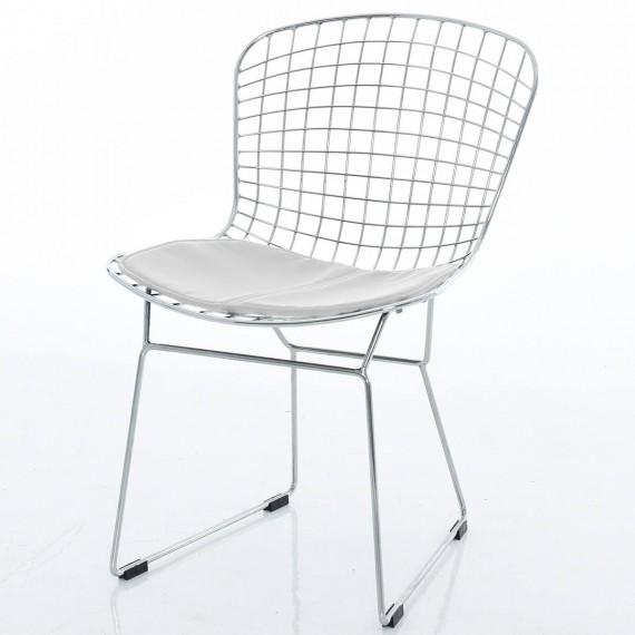 Réplique de chaise Bertoia chromée par Harry Bertoia