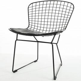 Chaise Bertoia Black Edition en Acier Noir