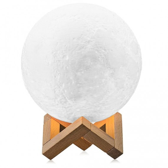 Lampe LED 3D Moon Lamp avec 15 cm de diamètre et connexion USB