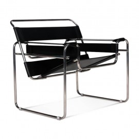 Chaise design Wassilly en cuir italien
