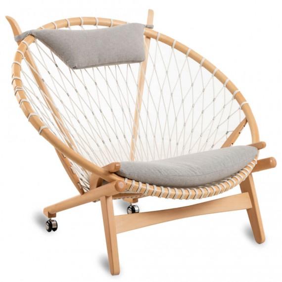 Réplique du fauteuil PP130 Circle haut de gamme de Hans J.Wegner