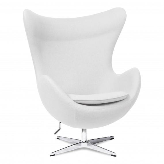 Réplique de la chaise Egg en cachemire du designer Arne Jacobsen