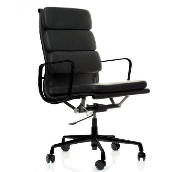 Réplique de la chaise de bureau Soft Pad EA219 en aluminium noir