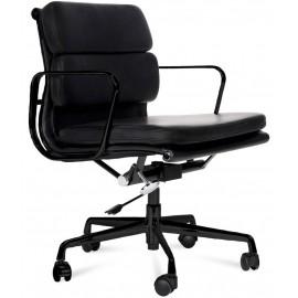 Réplique de la chaise de bureau Soft Pad EA217 en aluminium noir
