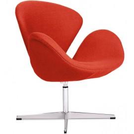 Réplique de la chaise Swan en cachemire par Arne Jacobsen