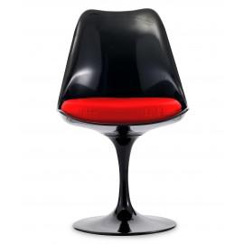 Réplique de la chaise Tulip tout noir du célèbre designer Eero Saarinen