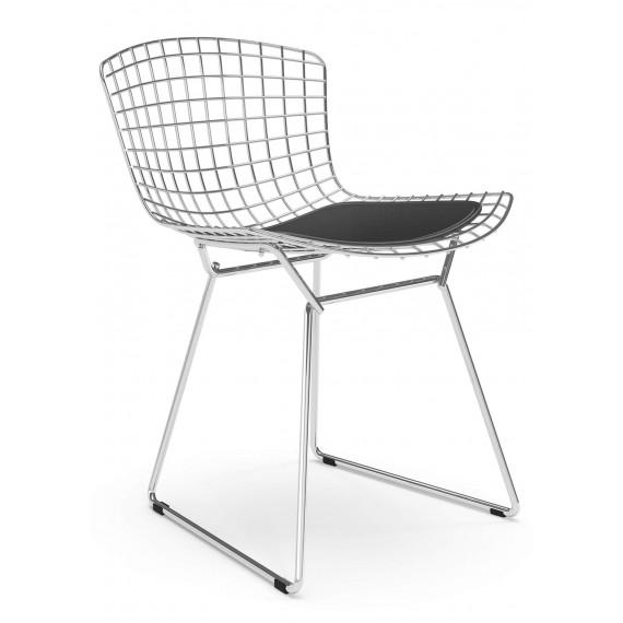 """Réplique Chaise Bertoia """"High Quality"""" en acier chromé du célèbre designer Hans J. Wegner"""