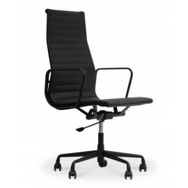 Replica chaise de bureau Aluminium EA119 en aluminium noir par Charles & Ray Eames.