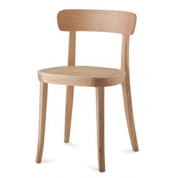 Chaise Tours en rotin naturel et bois de frêne de style nordique.o