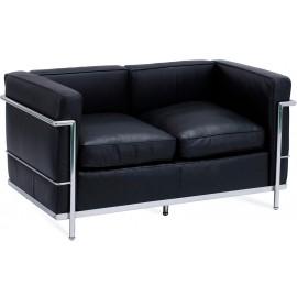Canapé Inspiration Beckham 2 places en cuir aniline de style moderne