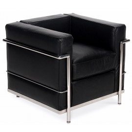Fauteuil Inspiration Beckham LC2 en cuir aniline style moderne