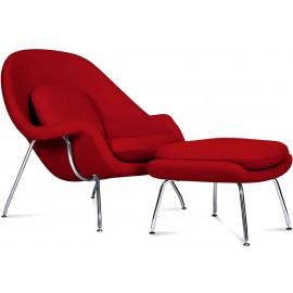Réplique de la chaise Womb du designer Eero Saarinen