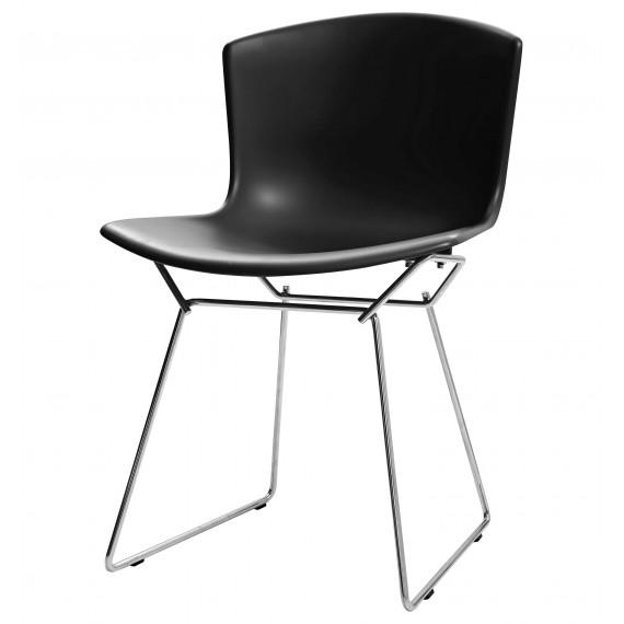 Chaise Inspiration Bertoia avec assise en plastique et pieds en acier