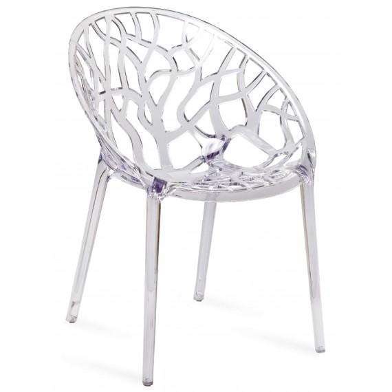 Réplique transparente de chaise d'extérieur en cristal