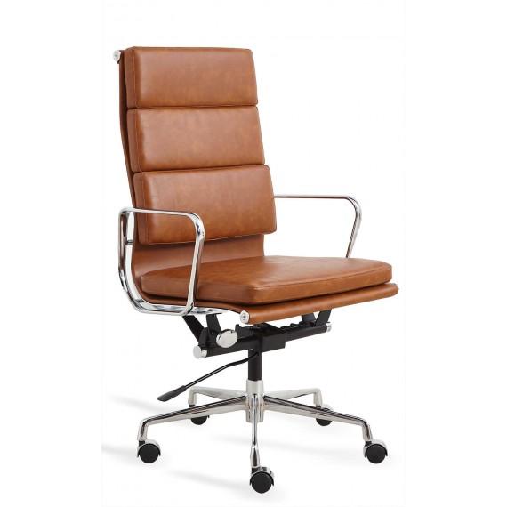 Chaise de bureau réplique Soft Pad EA219 en similicuir usé
