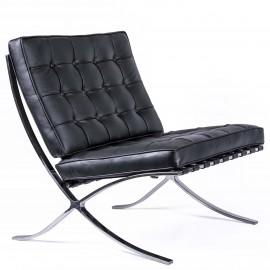 Chaise Barcelona Chair HQ en Cuir Fleur Italien
