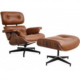 Réplique Eames Lounge Chair EA219 en similicuir vieilli