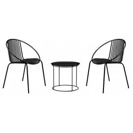 Pack de chaise bali et table bali adapté à l'extérieur