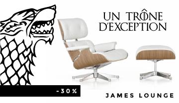 La James Lounge Chair, le fauteuil le plus convoité où chacun voudra s'asseoir.